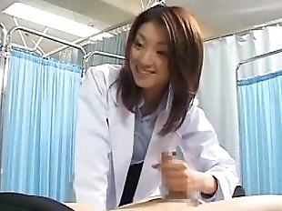 Japanese female doctor makes her patient cum - 1..