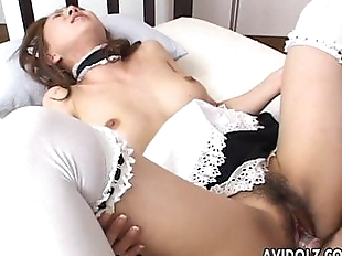 Asian maid getting fucked hard by the dude - 8 min