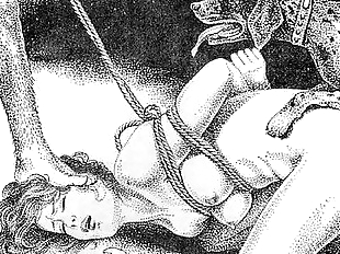 Slaves to rope japanese art bizarre bondage..