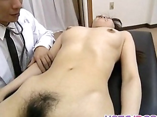 Saki Shiina has hairy cunt measured and sucks..