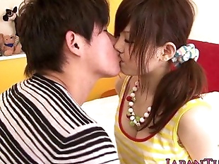 Asian pornstar Miku Airi gets tits jizzed on - 8..