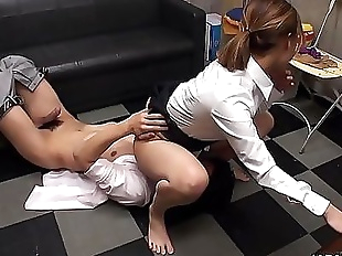 Fucked in the office in her super hairy wet cunt..