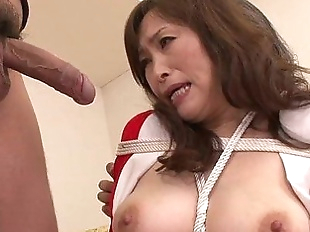 MIlf bouned in threeway blowjob for this mature..