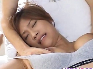 Azusa Ayano sexy Asian milf gives incredible..