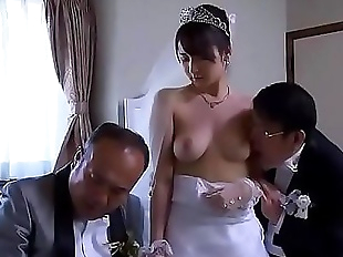 Asian Milf wife get stripped clothes by boss in..