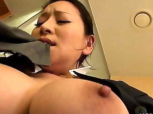Japanese maid, Rei Kitajima was caught..