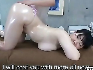 JAV lesbian massage BBW client with huge breasts..