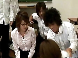 Horny Japanese teacher gets fucked and abused 7..